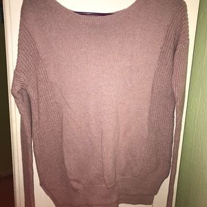 American Eagle Oversized Dusty Rose Sweater